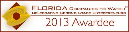 2013 Florida Company to Watch Award Recipient